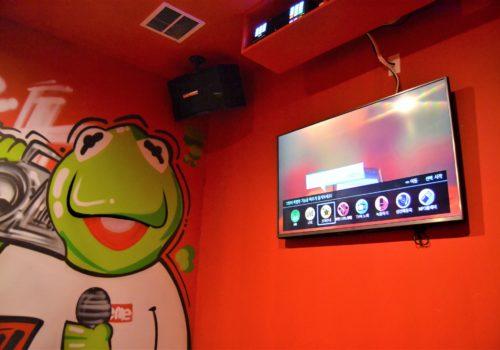 Kermit the Frog art on wall