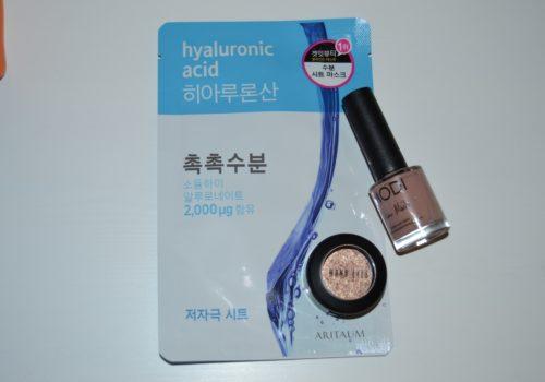 nail polish and face makeup packaging