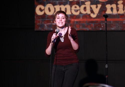 Aurora Comedy Nights on stage