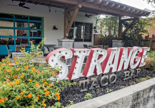 Strange Taco Bar sign
