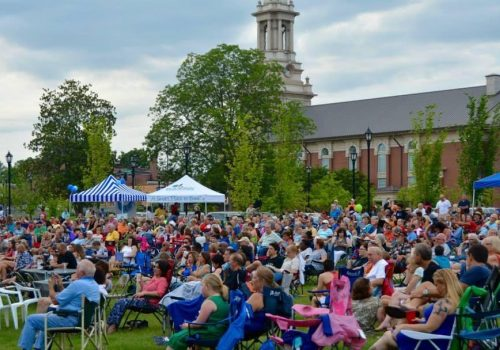 Lawrenceville Summer Concert crowds