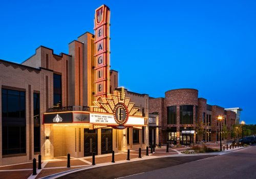 Overall Exterior From Theater End Dusk