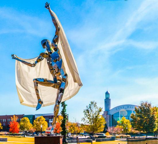 SculpTour statue in a Park