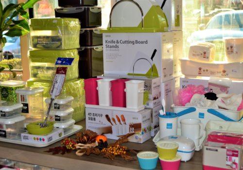 display of kitchen gadgets