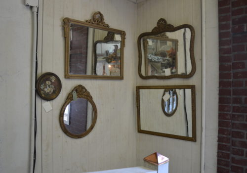 mirrors on wall