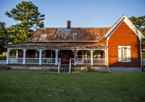 outside Everett's Music Barn