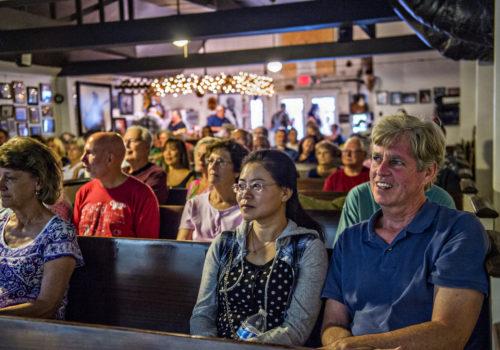 crowd at Everett's Music Barn