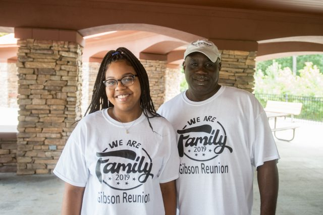 two people at Gibson Family Reunion