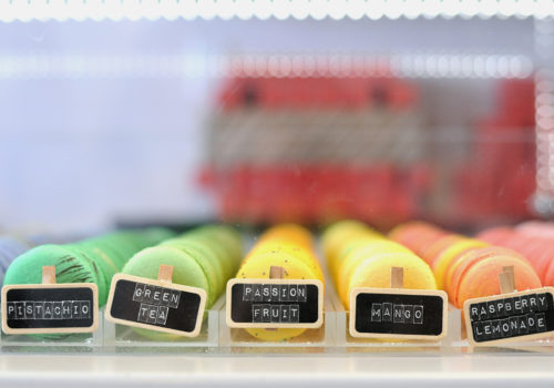 rows of macarons