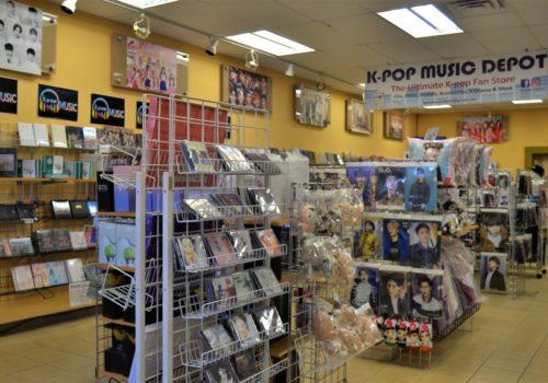 shelves of dvds
