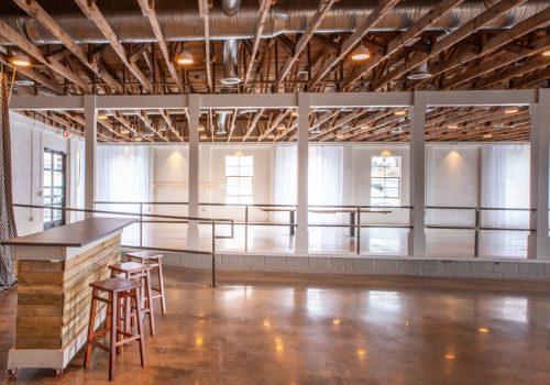 inside empty building