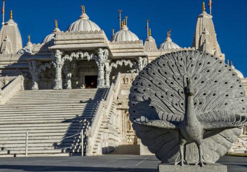 outside Mandir Temple