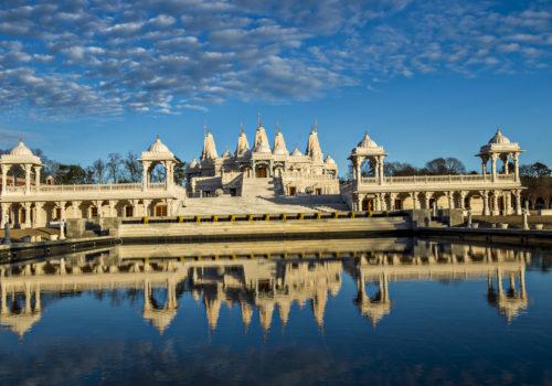 Mandir temple on lake