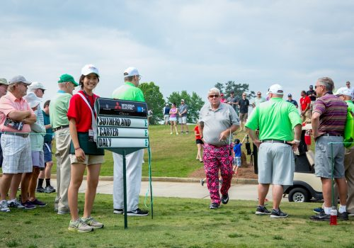 people at golf range