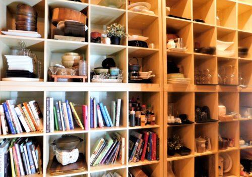 wall shelves of books