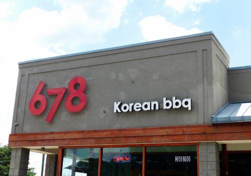 outside 678 Korean BBQ