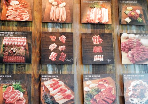 menu of meat dishes
