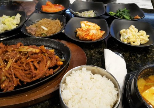 food spread on table