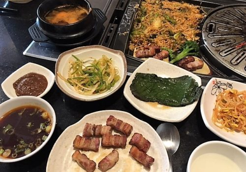 Korean BBQ spread