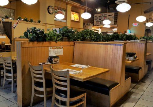 restaurant seating area inside