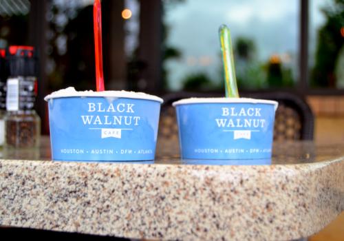 two cups of frozen yogurt
