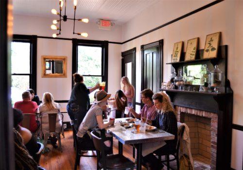 inside dining area