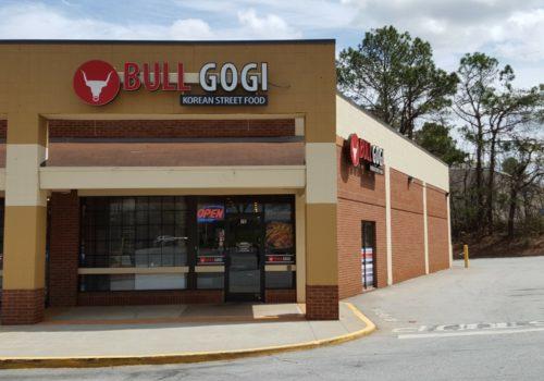 outside Bull Gogi restaurant