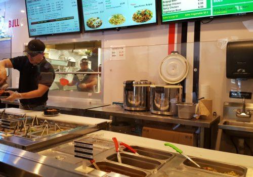 food prep area