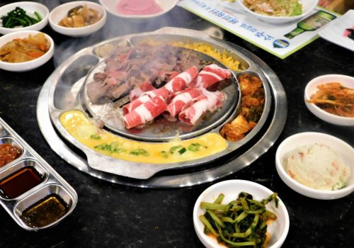 Korean BBQ food