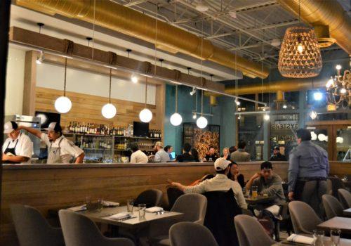 inside restaurant area