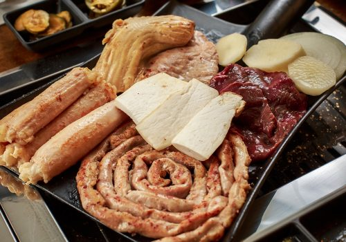 tray of food