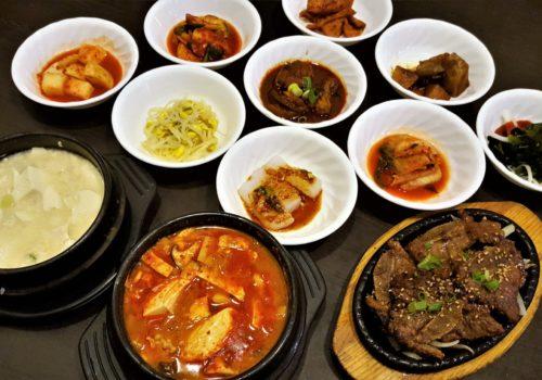bowls of food