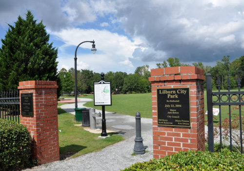 Lilburn City Park entrance