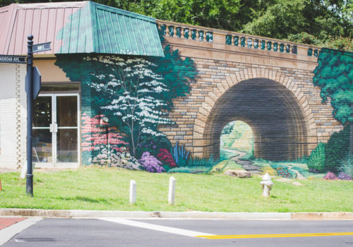 wall mural of tunnel