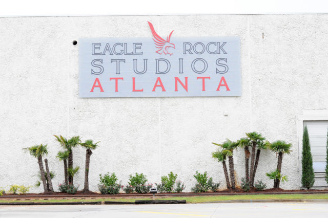 sign reading Eagle Rock Studios Atlanta