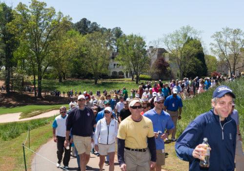 men walking at golf course