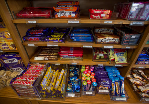assortment of candy bars