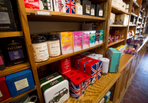 shelf of teas