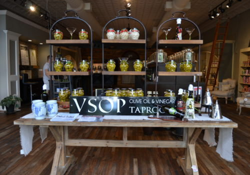 jars of olives and oils