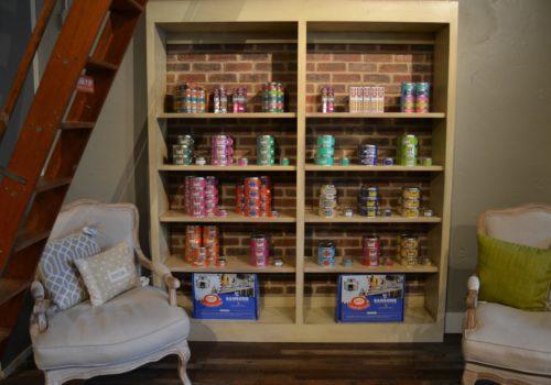 shelves of tea