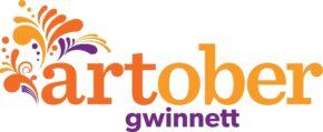 "orange and purple logo reading ""artober Gwinnett"""