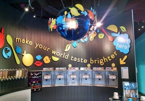 inside Swirlz yogurt bar