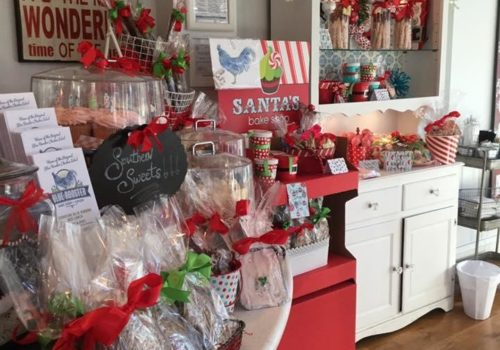 Holiday-themed store goods
