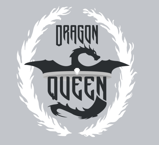 Dragon Queen Graphic Light Gray