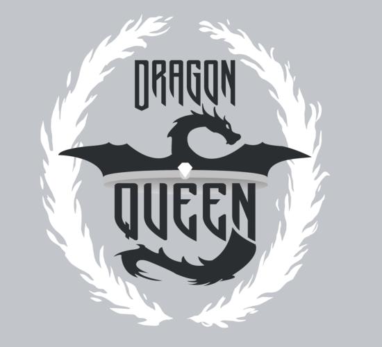 Dragon Queen Graphic Light Gray