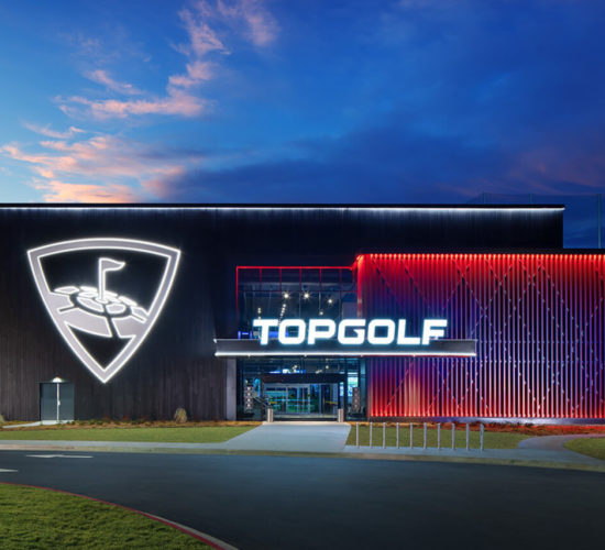 Exterior night topgolf rogers
