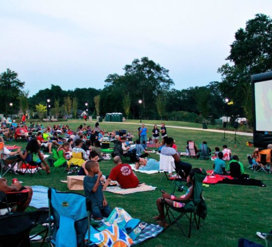 lawrenceville movie on lawn